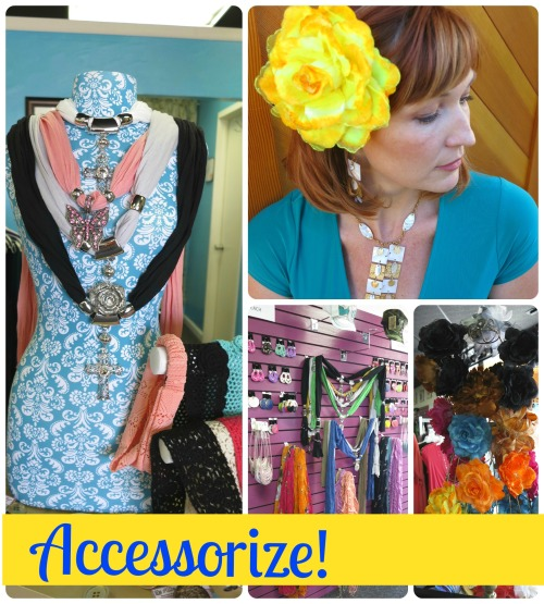 collage of allie ollie accessories promoting sale through end of may