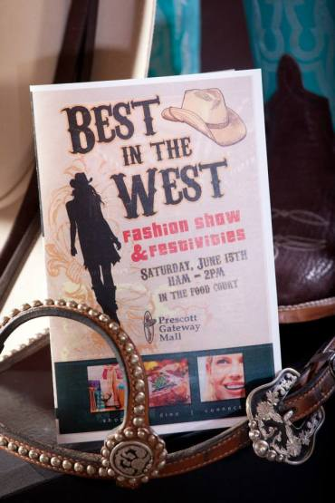 best in the west fashion show invitation