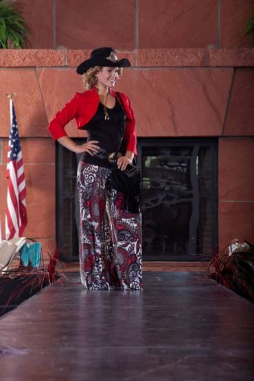 model styled in allie ollie rodeo outfit at prescott gateway mall