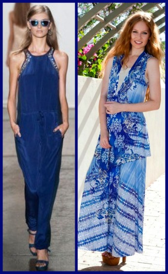 fashion designer rebecca taylor and allie ollie ensemble looks side by side comparison