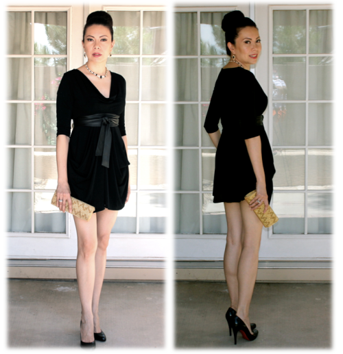 Sheila Vertuno of Chasing Sheila in Allie Ollie's Ensemble Pocket Tunic LBD