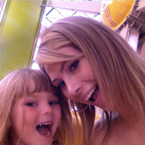 Owner of Allie Ollie Allie Olson posing with daughter Cara while in Vegas at WWD MAGIC show
