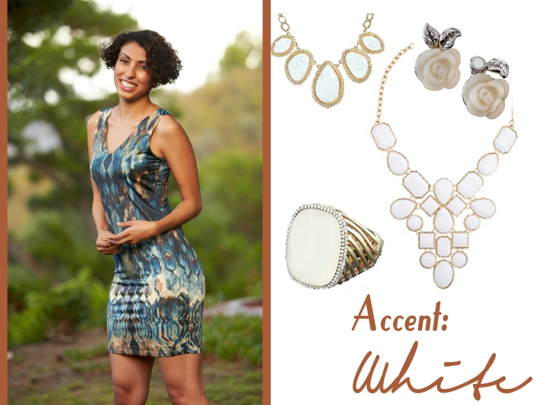 Collage of accessories to pair with Allie Ollie Night Sky Collection from Fall 2013