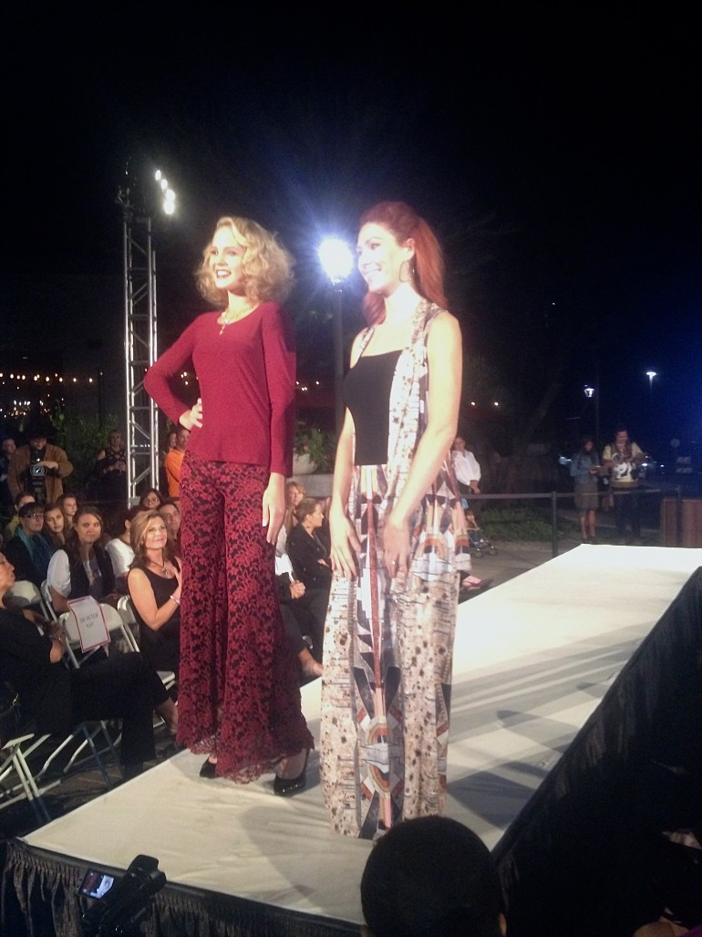 Designer Allie Olson with her final runway look at Tucson Fashion Week