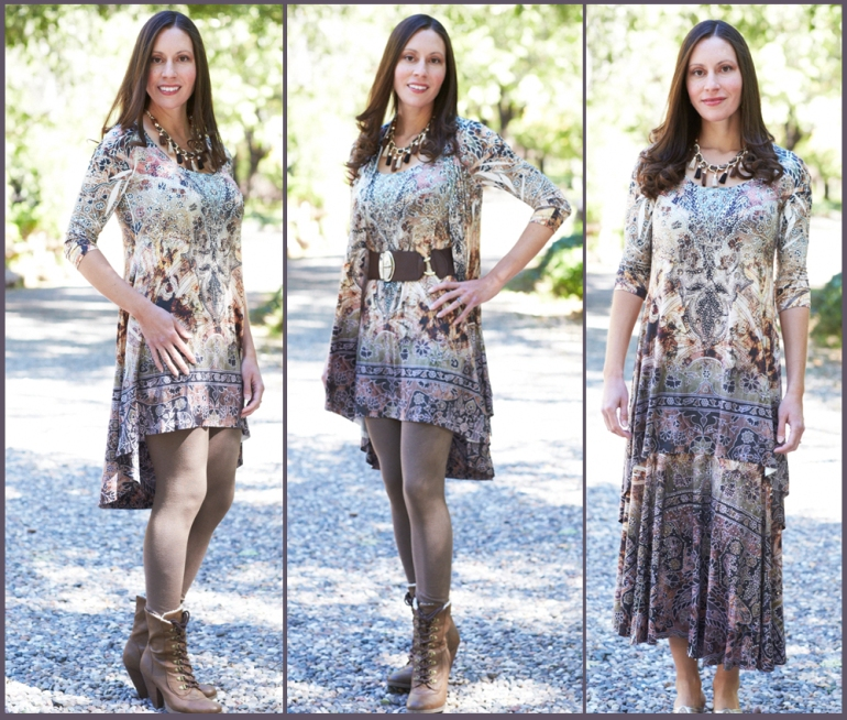allie ollie fall romance high low tunic styled three ways