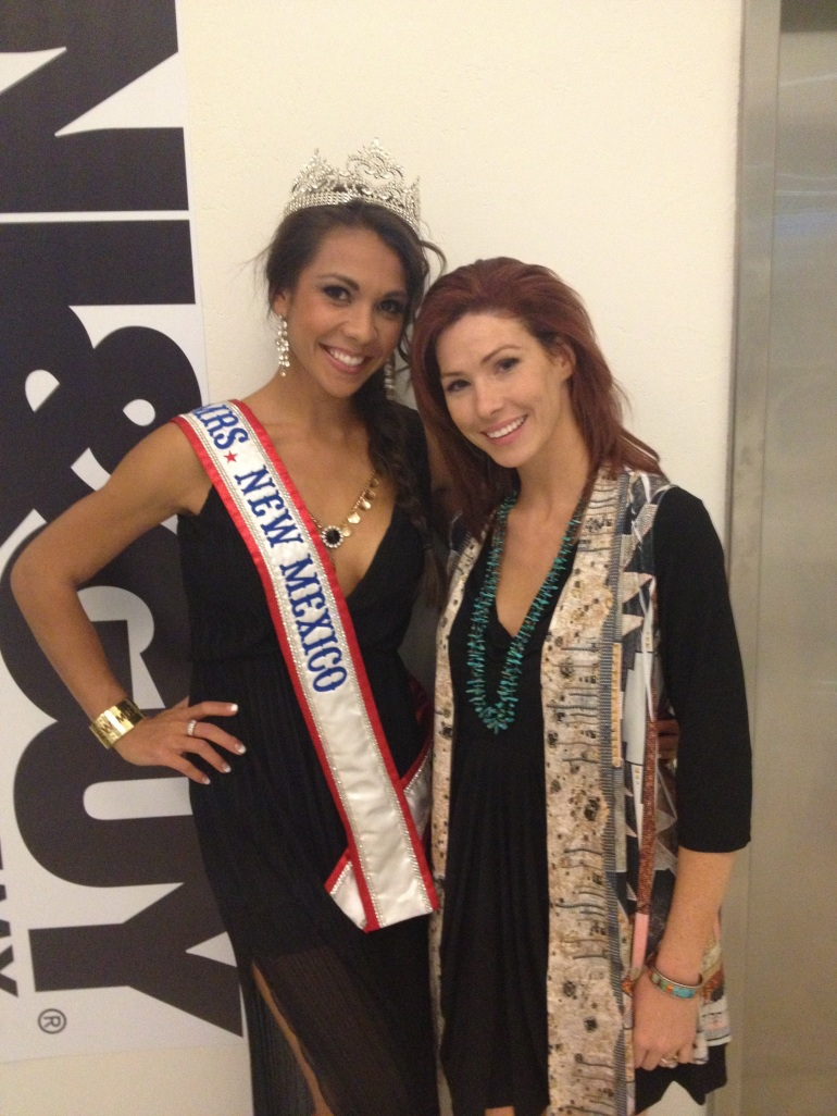 Allie With Mrs New Mexico Pageant Winner at Toni and Guy in Albuquerque for Santa Fe Fashion Week