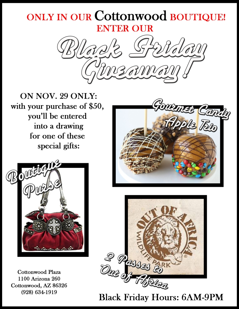 Black Friday Cottonwood Giveaway only at Allie Ollie