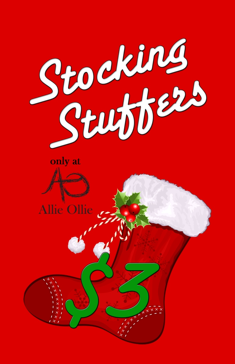Allie Ollie Stocking Stuffers available on Black Friday and throughout Holiday Season