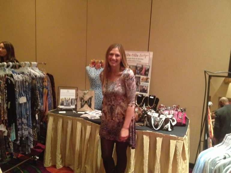 Tina setting up Trunk Show at Buffalo Thunder Resort and Casino for Santa Fe Fashion Week