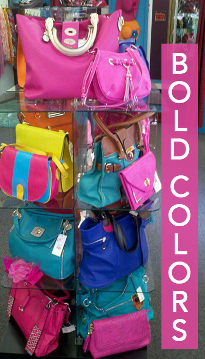 Allie Ollie Bold Purses in bold colors