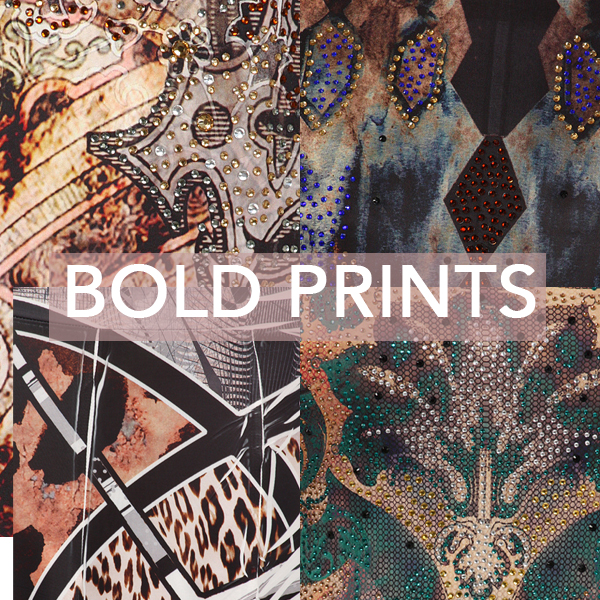 ALlie Ollie Bold Prints up close in a collage from Fall 2013 Collection