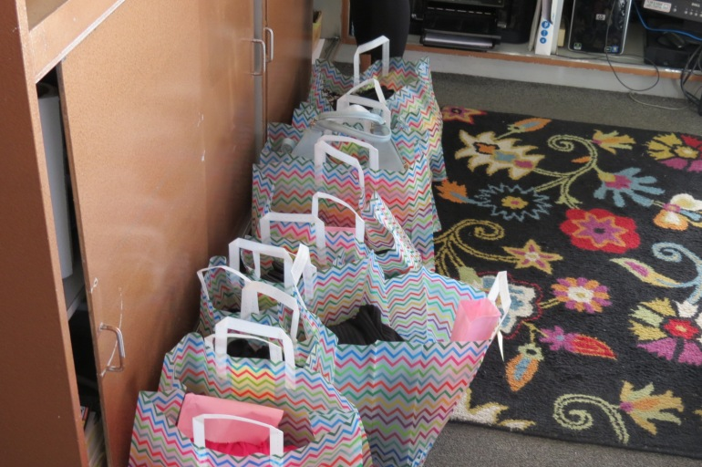 Shopping bags at the Allie Ollie store in Sedona, AZ
