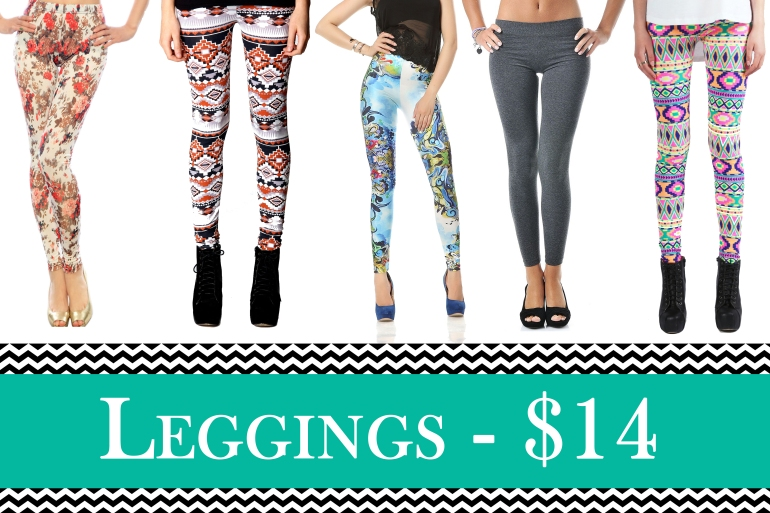 Allie Ollie Fabulous Printed Leggings for only 14 dollars