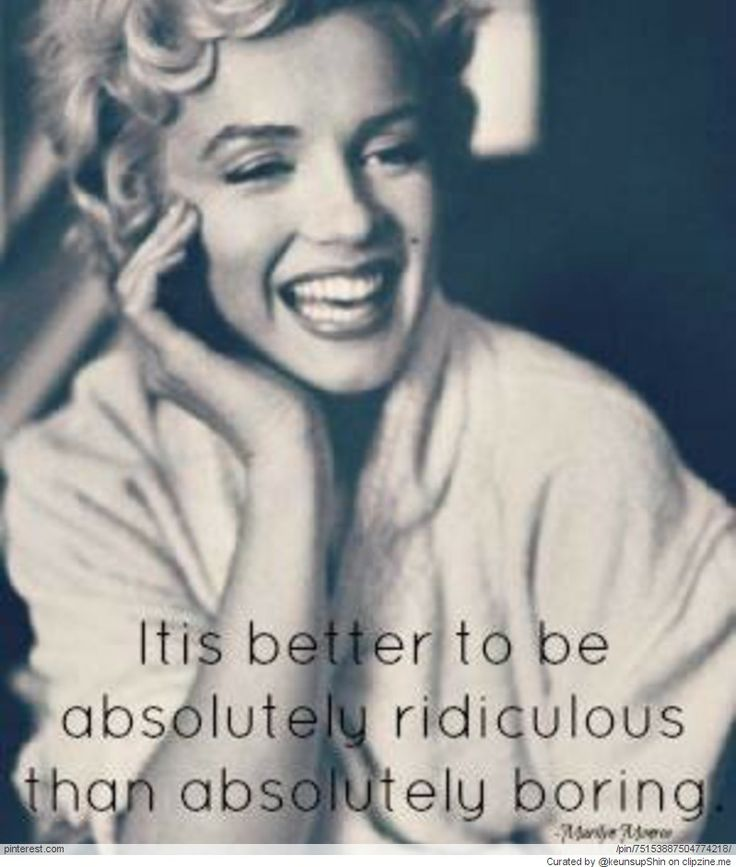 Marilyn Monroe Quote from Allie Ollie Style Blog