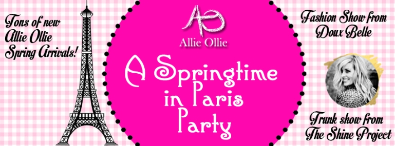 Allie Ollie Springtime in Paris Party