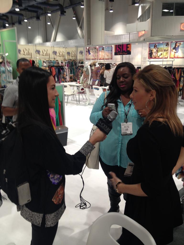 PHX Fashion Week interviewing Allie of Allie Ollie