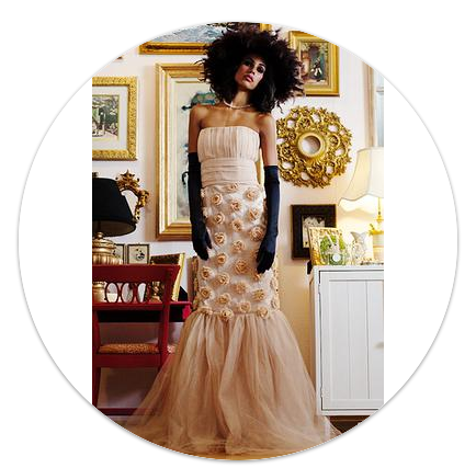 Doux Belle Rose Elegant Gown to be featured at Allie Ollie A Springtime in Paris Party