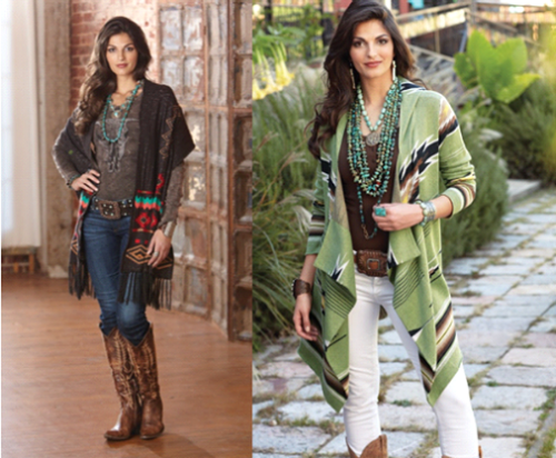 "The overall flavor for the season is ""Western Chic""."